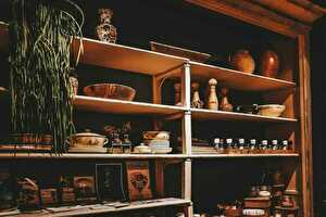 De oude keukenkast